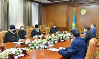 Шымкент: Аким города встретился с митрополитом Александром